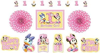 Amscan Minnies 1st Birthday Decoration