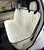 Dog Seat Cover Without Hammock for Cars, SUVs, and Small Trucks (Tan)