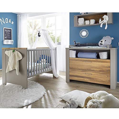 Babyzimmer f. Zwillinge Tokio Set 4 taupe wildeiche gölt 5tlg. Komplett Baby