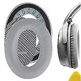 Geekria almohadillas de repuesto para Bose QuietComfort 35, qc35, QC25, QC15, Around-Ear AE2, AE2 W Auriculares/Ear Cushion/Ear Cups/orejas Cubierta/almohadillas piezas de reparación (gris)