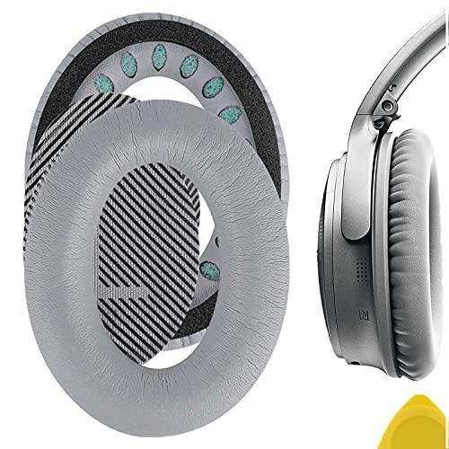Geekria - Cuscinetti di ricambio per cuffie Bose QC35 ii, Bose QuietComfort 35, cuscinetti auricolari copri-orecchie, colore argento