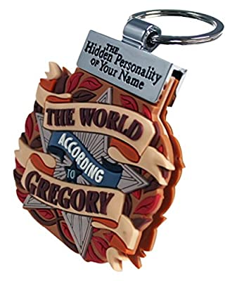 World According to Keyring Book Key Chain