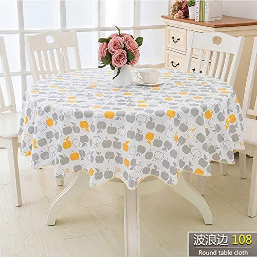 TWTIQ Estilo de Flor Paño de Mesa Redonda Pastoral PVC Plástico Mantel de Cocina A Prueba de Aceite Decorativo Elegante Tela Impermeable Cubierta de Mesa color8 137cm