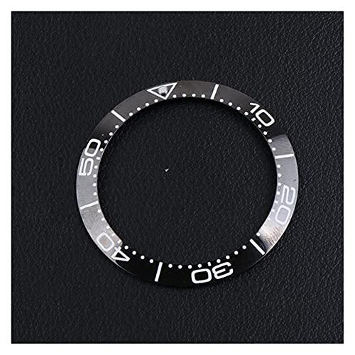 ZRNG 38-30.8mm Inserción de cerámica Ajuste para 41 mm Fit para Omega Bisel Sea Master 007 Relojes Relojes de Cara Reemplazar Accesorios Piezas Colorful Ring (Color : 6)