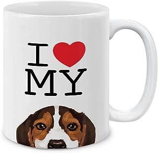 MUGBREW I Love My Beagle Puppy Dog Ceramic Coffee Gift Mug Tea Cup, 11 OZ