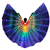 Women LED Belly Dance Isis Wings Angel Costume with Telescopic Sticks (Multi-Color)