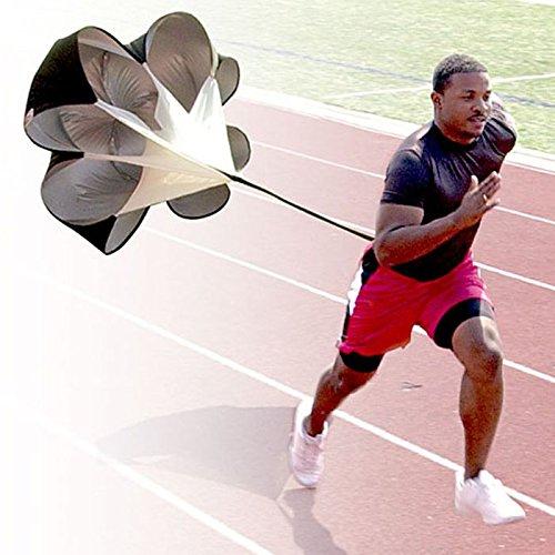Best Review Of Kuerqi Running Speed Training, 56 inch Speed Drills Resistance Parachute Running Spri...