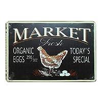 鶏肉農家の新鮮な卵 金属板ブリキ看板警告サイン注意サイン表示パネル情報サイン金属安全サイン