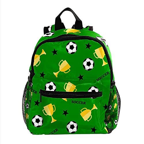 Fußball und Pokal, Jungen Rucksäcke für die Schule Süße Rucksäcke für Kinder Teen Kleinkind Fashion Daypack Rucksack Reise Laptoptasche