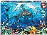 Educa Borras - Genuine Puzzles, Puzzle 500 piezas, Gran tiburón blanco (18478)