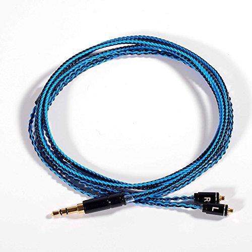 MiCity - Cavo sostitutivo Auido da 3,5 mm con adattatore MMCX Nero e blu