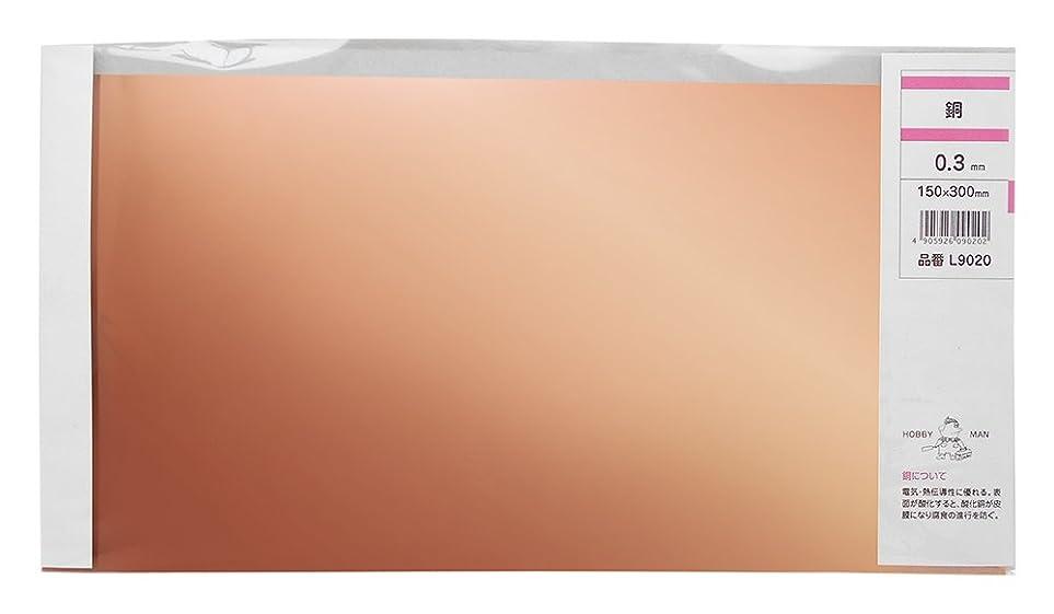 影のある人差し指結晶久宝金属製作所 銅板 スリム 厚み0.3X巾150X300mm L9020