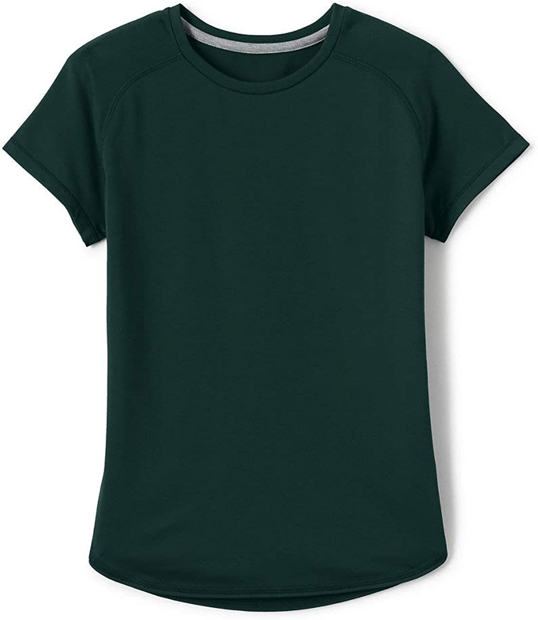Lands' End School Uniform Girls Short Sleeve Active Gym T-Shirt