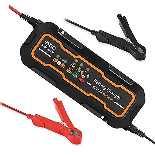 DjfLight 6 / 12V 5A Autobatterieladung, vollautomatisches Ladegerät/Wartung für Autos, Batterien retten und wiederherstellen. Motorräder, Geländefahrzeuge, Wohnmobile, Boote und mehr.