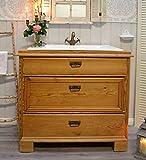 Antike Holz Kommode als Waschtisch | Waschbecken mit Unterschrank Landhausstil Badausstattung