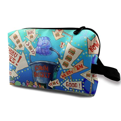 Travel Makeup Pouch with Wristlet Cosmetic Bags Portable Toiletry Bag with Zipper for Girls Women