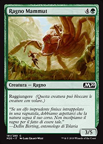 Magic : The Gathering MTG - Mammoth Spider - Ragno Mammut - Core Set 2020 M20 181/345 Foil Italiano(Italian)