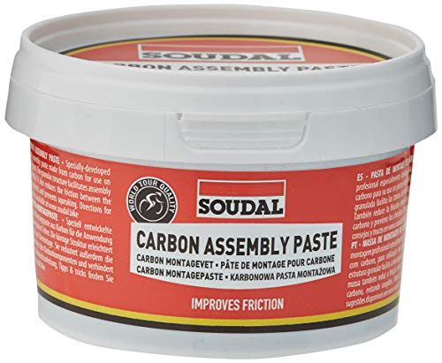 Soudal Carbon Assembly Paste Grasa, Adultos Unisex, Rojo, Talla Única
