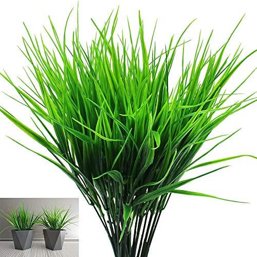 SRunDe 6 ramos de plantas artificiales pasto de trigo Para interior al aire libre oficina en casa jardín boda Badroom balcón mesa cocina tumba decoración de fiesta relleno de jarrón