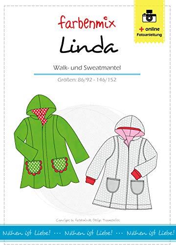 Farbenmix Linda Schnittmuster (Papierschnittmuster für die Größen 86/92-146/152), Märchenmantel