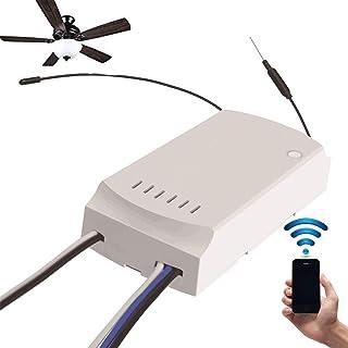 OWSOO SONOFF Control Remoto para Ventiladores de Techo AC100-240V 50/60Hz, Mando a Distancia Inteligente, Control Remoto ON/Off de App
