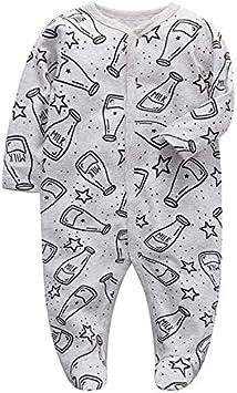 Beb/é Mameluco Fleece Mono Manga Larga Bodys Linda Pijamas Pelele 0-3 Meses