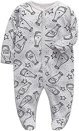 Beb/é Body de Manga Larga Pack de 3 Mono Ni/ños Ni/ñas Mameluco Algod/ón Peleles Pijama Regalo de Recien Nacido