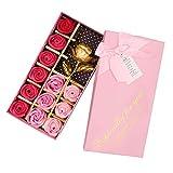 NorCWulT Jabón perfumado Rose Rosas Florales de simulación Mejores Regalos para su mamá Muchachas de Las Mujeres de cumpleaños del Amante de San Valentín Navidad