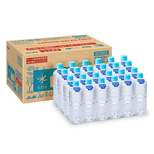 アサヒ飲料 おいしい水 天然水 ラベルレスボトル PET 600ml×24本 [9106]