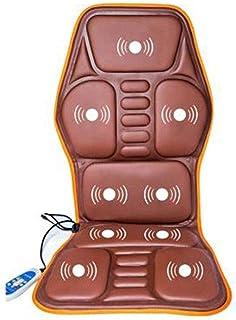 XLYAN Masajeadores De Cuello Y Espalda con Calefacción por Acupresión, Cojines para Sillas De Masaje, Vibraciones Rodantes, Músculos Profundos Relajantes, 9 Cabezales De Masaje,Orange