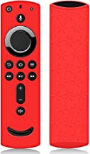 Remote Case/Cover for Fire TV Stick 4K, Protective Silicone Holder Lightweight [Anti Slip] ShockProof for Fire TV Cube/Fire TV(3rd Gen)Compatible with All-New 2nd Gen Alexa Voice Remote Control (Red)
