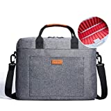 KALIDI Laptop Bag, 13.3' 14.5 Inch Notebook Briefcase Messenger Shoulder Bag for Dell Alienware/MacBook/Lenovo/HP, Travelling, Business, College and Office Grey