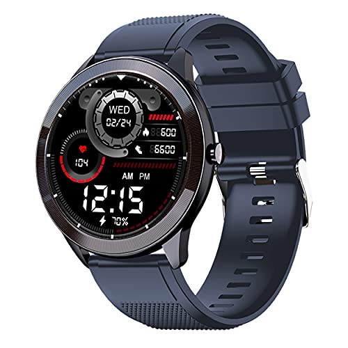 """Maxima Max Pro X4 Smartwatch with SpO2, Up to 15 Day Battery life, 1.3"""" Round Full-touch Display with Ultra Bright Screen of 380..."""