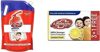 Lifebuoy Total 10 Active Silver Formula-Germ Protection Handwash Refill, 1.5 L & Lifebuoy Lemon Fresh 100% Stronger Germ P...