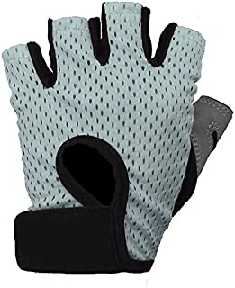 Outdoor gloves half point nylon sports supplies gym ride protection palm, Martian E-Commerce (Color : Lightly Green, Size...