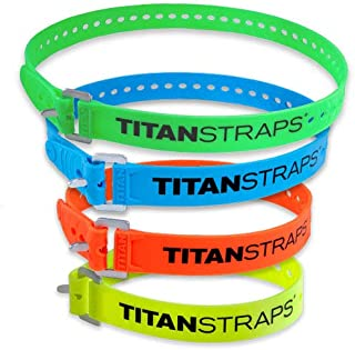 Titan Straps – Safety Strap Set to Secure Splits, Cargo Bikes, Garden Hoses, Wood Working Projects – 70 lb. Working Load, 20