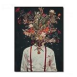 """Lienzo Pintura Pintura Arte de la pared Arte abstracto Personaje que cubre el rostro humano Mural decorativo 70x100cm / 27.5 """"x39.4' (NoFrame)"""