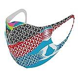 デザイン マスク 2枚セット ポリエステル 洗える 布マスク 男女兼用 015798 鯉のぼり 空 端午の節句