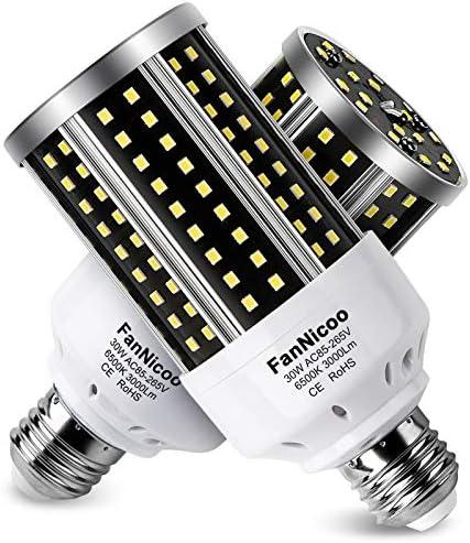 LED Corn Light Bulb 2 Pack 200W Equivalent Cool Bright Daylight White 30W 6500K 3000 Lumen E26 product image