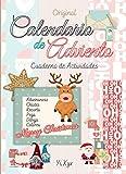 Original Calendario De Adviento - Cuaderno de Actividades - Adivinanzas - Chistes - Recorta - Pega -...