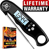 Instant Read Thermometer Best Waterproof Digital Meat Thermometer with Backlight and Calibration functions