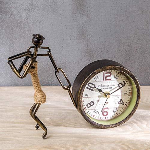 CJH Vintage smeedijzeren werkblad Europese creatieve Twine Clock sieraden woonkamer zittend klok desktop fiets antiek klok