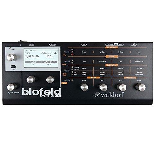 Waldorf Blofeld–Synthesizer, Farbe schwarz