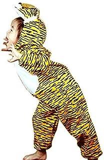 جامبسوت بتصميم نمر من جولف ديلز، زي هالوين - اصفر وابيض (مقاس S)