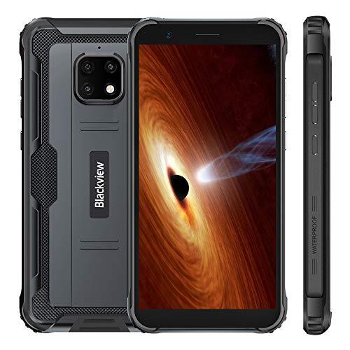 Blackview BV4900 Outdoor Smartphone Ohne Vertrag, IP68 Android 10 Smartphone, 5580mAh Akku, 3GB +32GB, 5.7 Zoll HD+ Display, 8MP + 5MP wasserdichte Kamera, Dual SIM, GPS, NFC, Schwarz