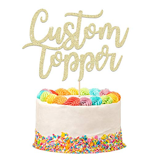 EDSG Personalised Cake Topper Happy Birthday Decorations Double Sided...