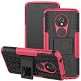 Moto G6 Play Case, Moto G6 Forge case, Viodolge [Shockproof] Rugged Dual Layer Protective Phone Case Cover with Kickstand for Motorola Moto G6 Forge / G6 Play (Pink)
