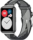 Chainfo kompatibel mit Huawei Watch Fit/Huawei Fit Nylon Uhrenarmband Ersatz Riemen Bänder Armband Smartwatch (Pattern 3)