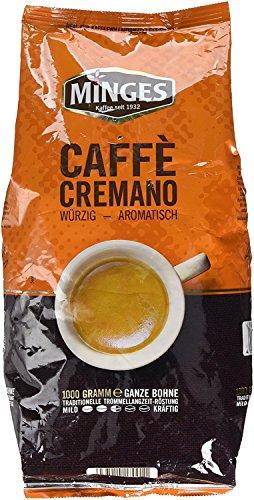 Minges Caffè Crema Caffe Cremano, ganze Bohne, Aroma-Softpack, 1.000 g, 1er Pack (1 x 1kg)