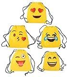 Lote de 20 Mochilas Petate Emoticonos - Mochilas, petates Infantiles, Infantil para niños y niñas. Regalos, Detalles y Recuerdos Baratos para Invitados de Bodas, Comuniones, Cumpleaños